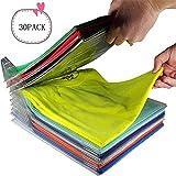 Organizador de armarios,Carpeta de Archivo y Camiseta Carpeta de tamaño Normal, 30-Pack