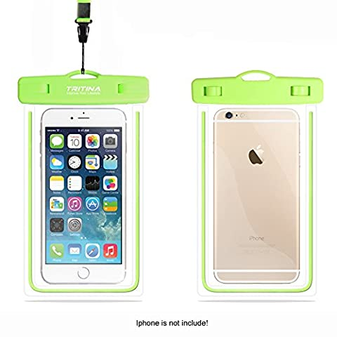 Tritina Waterproof Case IPX8, Universal Waterproof Phone Pouch fit Size