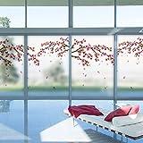 Die Fenster aus Glas, Aufkleber Papier Schiebefenster mit Balkon Schlafzimmer Wohnzimmer Fenster Papier, 60 x 90 cm.