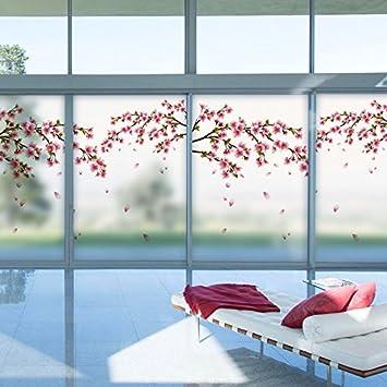 Die Fenster Aus Glas Aufkleber Papier Schiebefenster Mit Balkon Schlafzimmer Wohnzimmer 60 X 90 Cm Amazonde Kuche Haushalt