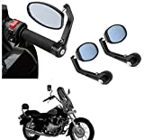 #10: AutoSun Bar End Mirror Rear View Mirror Oval For Bajaj Avenger Cruise 220