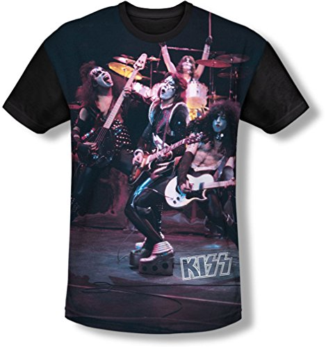 Kiss - Jugend Live Show T-Shirt, X-Large, White