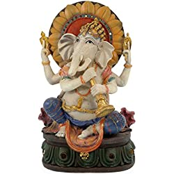 Hindú Dios Ganesha Estatua Multicolor 31cm sentado Buda hindú Ismus suerte Dios