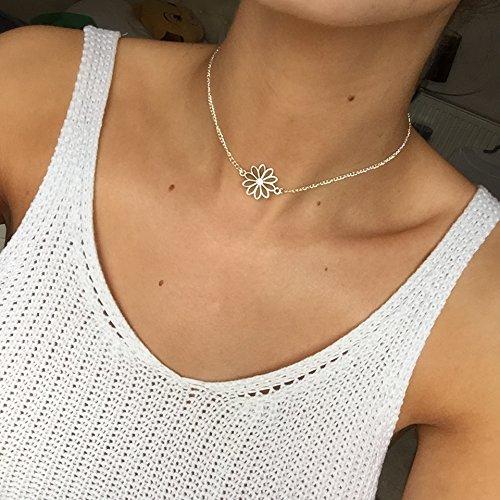 fiore-daisy-chain-choker-silver-toned-necklace