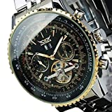 Jaragar Fashion Herrenuhr Edelstahl Automatik Mechanische Uhr für Männer Frauen Business Armbanduhr