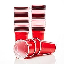 Original Lumaland red cup Partybecher - die roten Becher sind auf jeder Party der Hit!Die Trinkbecher sind ein richtiger Hingucker - Die knallig roten To Go Becher sind perfekt zum Geburtstag oder für Partys jeder Art.Dieser robuste Plastikbecher eig...