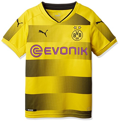 Home Replica Shirt with Sponsor Logo Fußball T-Shirt, Cyber Yellow Black, 164 (Besten Herren Trachten 2017)