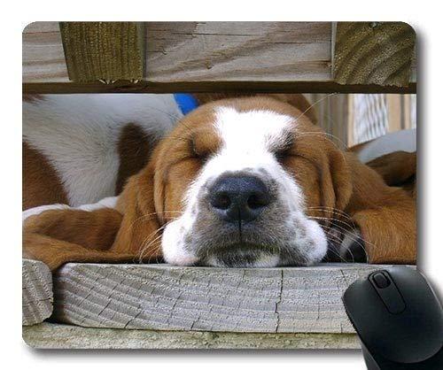 Gaming-Mauspads, Cute Dog Basset Hound, Präzisionsnaht, strapazierfähiges Mauspad
