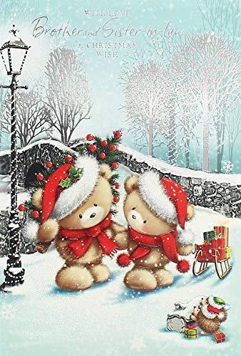 MLL Mode Weihnachten Stereo Grußkarte - Thema Bär Segen Nachricht Grußkarte,Farbe,A - Bären Nachricht