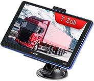 7 Zoll GPS Navigationsgerät für Auto LKW PKW KFZ Navigation für Auto Touchscreen 8GB 256MB Sprachführung Blitz