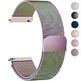 Fullmosa Milanese 20mm Uhrenarmband, Milanese Smart Watch Armand Ersatzband mit Edelstahl Magnet-Verschluss für 20mm Bunt