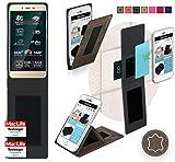 reboon Hülle für Allview P7 Pro Tasche Cover Case Bumper   Braun Wildleder   Testsieger