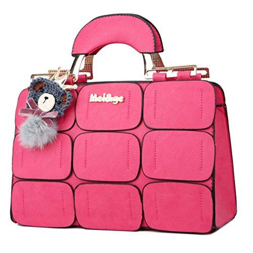 Suture Boston Bag Inclined Shoulder Bag / Handbags, Rose