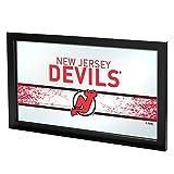 Markenzeichen Gameroom NHL New Jersey Devils gerahmt Logo Spiegel