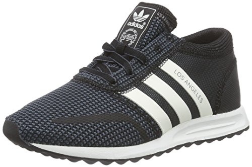 Adidas los angeles scarpe da ginnastica unisex - adulto, nero (schwarz (core black/off white/granite)) 42 2/3 eu