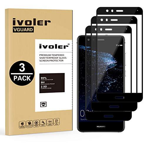 iVoler [3 Pack] Pellicola Vetro Temperato per Huawei P10 Lite, [Copertura Completa] Pellicola Protettiva Protezione per Schermo per Huawei P10 Lite