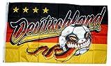 Fahne/Flagge Deutschland 4 Sterne Ball 90 x 150 cm