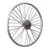 Taylor-Wheels 26 Zoll Hinterrad YAK19 mit 8fach Schraubkranz - Silber