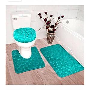 Badezimmerteppich Set Türkis   Deine-Wohnideen.de