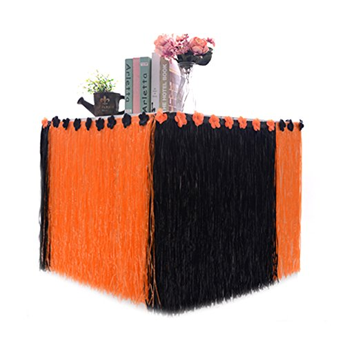 Lanlan 275 x 75 cm Künstliche Gras hawaiianischen Stil Tisch Rock Blume eingelegten Halloween Party Geschirr (Inflatables Yard Halloween)