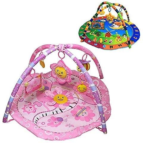 Monsieur Bébé ® Tapis d'éveil éducatif et musical + jouets - Deux modèles - Norme EN 71