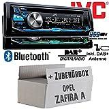 Opel Zafira A - JVC KD-DB97BT - DAB+ Digitalradio | Bluetooth | USB | Autoradio inkl. DAB+ Antenne - Einbauset