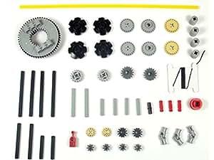 LEGO TECHNIC 52-teiliges Zahnrad und Achs-Set. Lieferung erfolgt wie abgebildet (siehe Beschreibung).