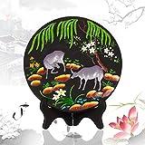 Creativos de talla de carbono hace los ornamentos, estampado de animales de la pintura decorativa dormitorio sala de estar , B