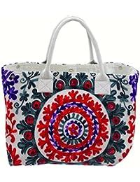 Nikita Home Furnishing Fashions Women's Sling Bag / Side Bag ( White & Multi )