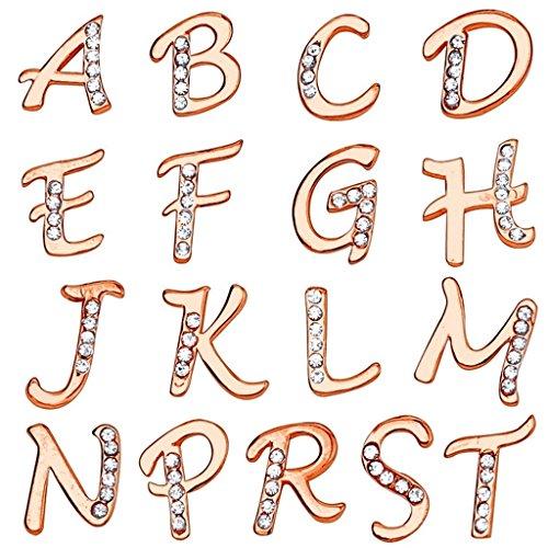 Piercing nombril initiale doré à l'or fin1 Initiale: T