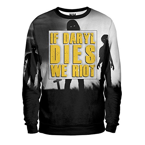 IF DARYL DIES WE RIOT - THE WALKING DEAD Sweatshirt Man - Felpa Uomo - (Riot Serie)