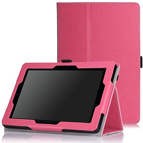 MoKo Fire HD 7 2014 Hülle - Kunstleder Ständer Schutzhülle Smart Cover mit Auto Schlaf / Wach Funktion und Stift-Schleife für Amazon Kindle Fire HD 7.0