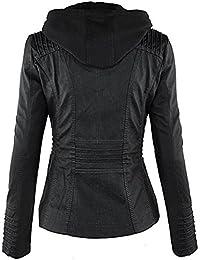 Amazon.fr   veste cuir femme   Vêtements cd511dfa38c
