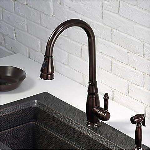Modylee Alta qualità classico ottone sola maniglia Antique Brown cucina rubinetto estraibile ORB Sink Mixer Tap