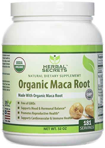 Herbal secrets USDA Certified Organic Maca Root Powder 32 OZ 181 Servings Raw Vegan