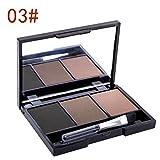 #10: Beyove 3 Color Eye Brow Makeup Kit Set Waterproof Eyebrow Shadow Powder Make Up Palette (3#)