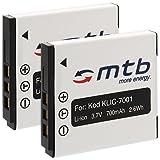 2x Batteria Klic-7001 per Kodak Easyshare M320, M340, M341, M753, M763... - vedi lista!