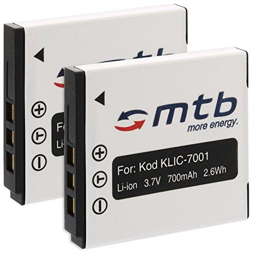 2x Akku Klic-7001 für Kodak Easyshare M320, M340, M341, M753, M763