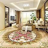 European-Style Marmor Textur Parkett 3D Boden Benutzerdefinierte Art Tapete Selbstklebende Einkaufszentrum Schlafzimmer Wandbild 350cm(L) x245cm(W)