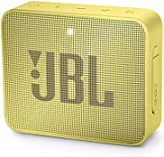 JBL Go 2 Portable Bluetooth Waterproof Speaker (Yellow), JBLGo2Syl