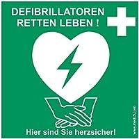 MedX5 Defibrillator (AED) Standort Kennzeichnung, Aufkleber, Defi Standortschild, AED Markierung preisvergleich bei billige-tabletten.eu