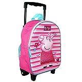Peppa Pig Trolley Zaino Ottica 3D   32 x 26 x 10 cm Bambini Borsa da Viaggio