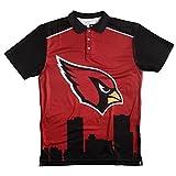 klew NFL Arizona Cardinals Polyester Short Sleeve Thematische Polo Shirt, Größe L, rot