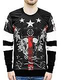 "Philipp Plein ""Caste"" Red Blood Skull Print Sweatshirt (L)"