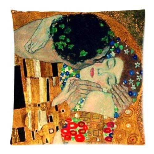 dingjiakemao Gustav Klimt Painting Art Custom 18 x 18 Inch Throw Cushion Cover Pillow Cases (Twin Sides)