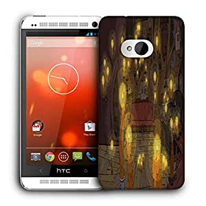 Snoogg Adventure Time Printed Protective Phone Back Case Cover For HTC One M7