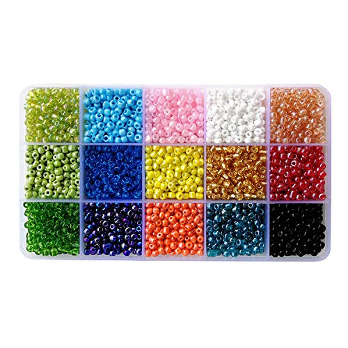 BALABEAD Seed Beads 15 Colors Mixed 6/0 Glass Seed for sale  Delivered anywhere in UK