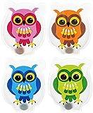4 tlg Set Hand- & Taschenwärmer COLOURFUL OWLS