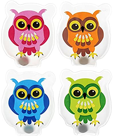 Lot de 4 chauffe-mains & cOLOURFUL oWLS