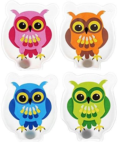 Scaldamani a forma di gufo, in vari colori, set da 4